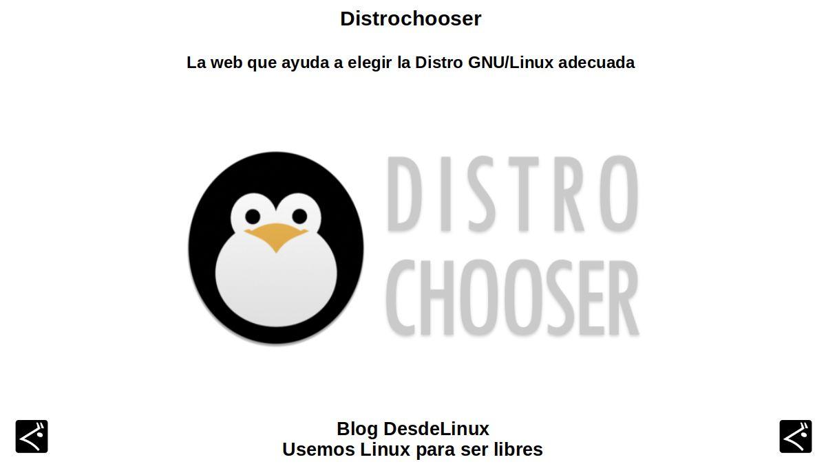 Distrochooser: La web que ayuda a elegir la Distro GNU/Linux adecuada