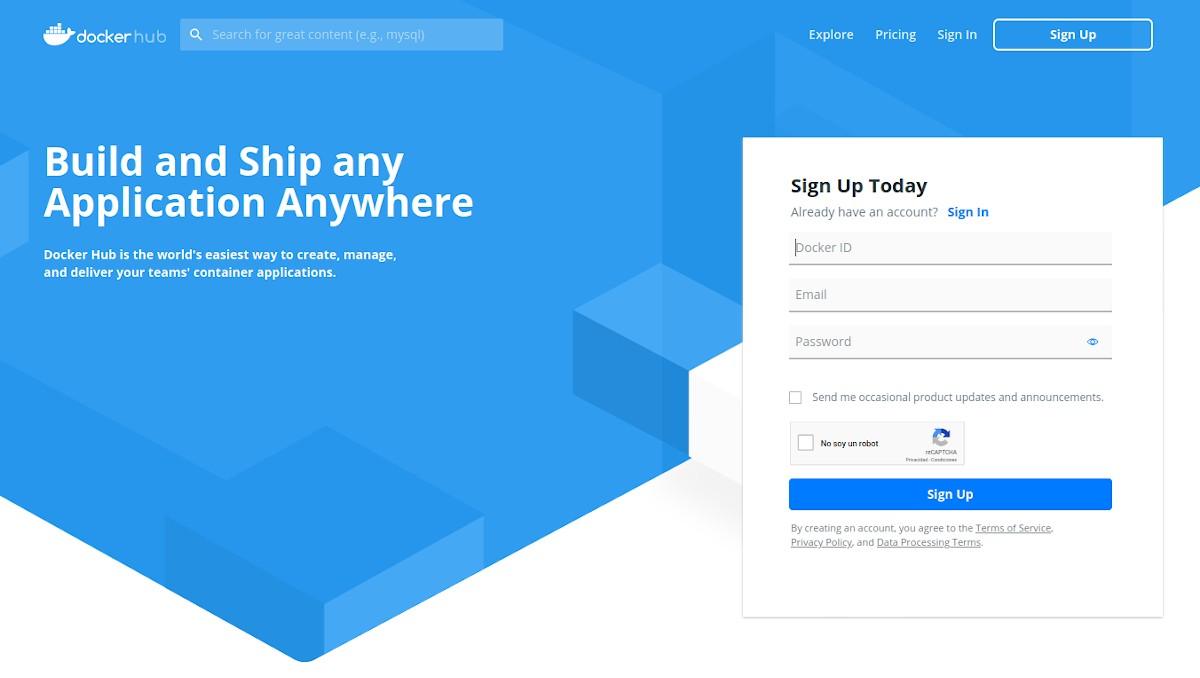 Docker Hub: Tutorial de registro - Paso 1