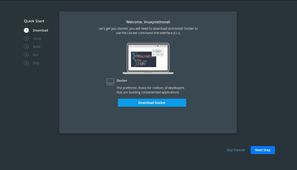 Docker Hub: Tutorial de registro - Paso 2