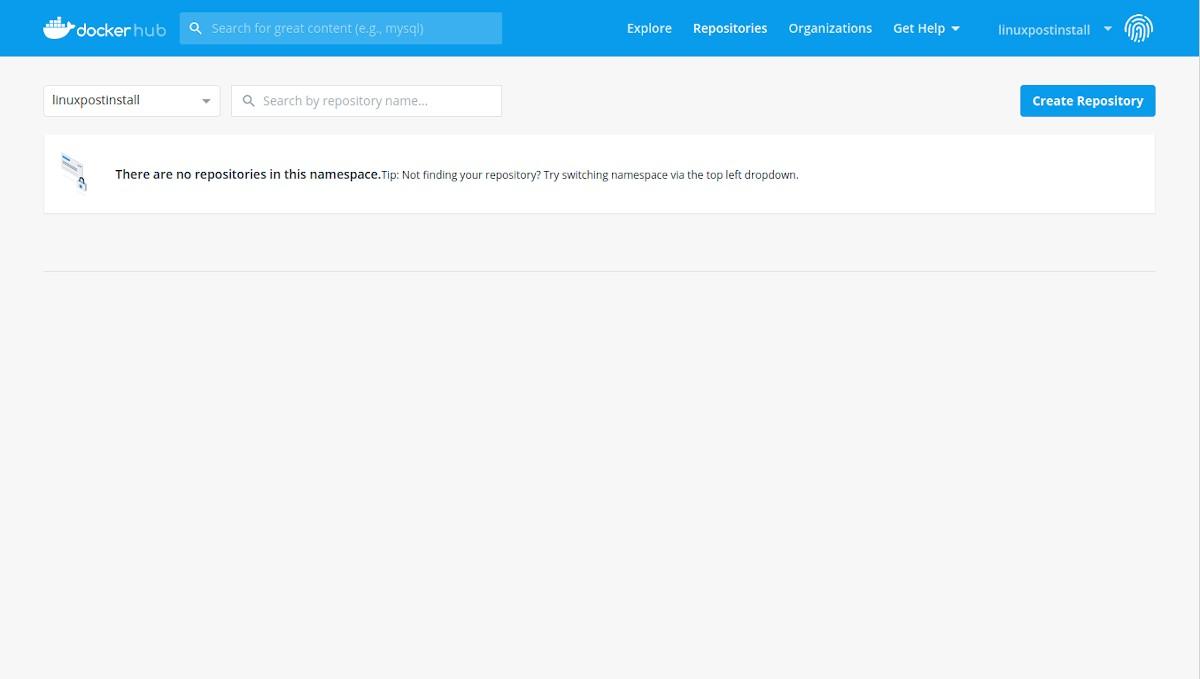 Docker Hub: Tutorial de registro - Paso 7
