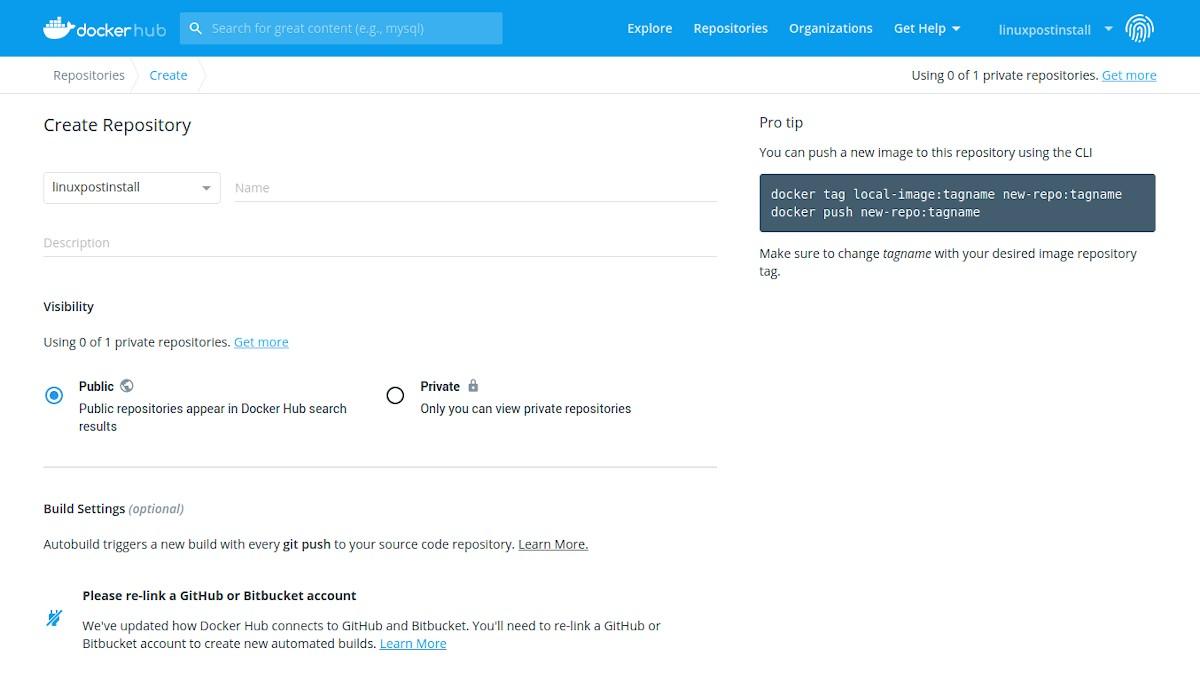 Docker Hub: Tutorial de registro - Paso 8