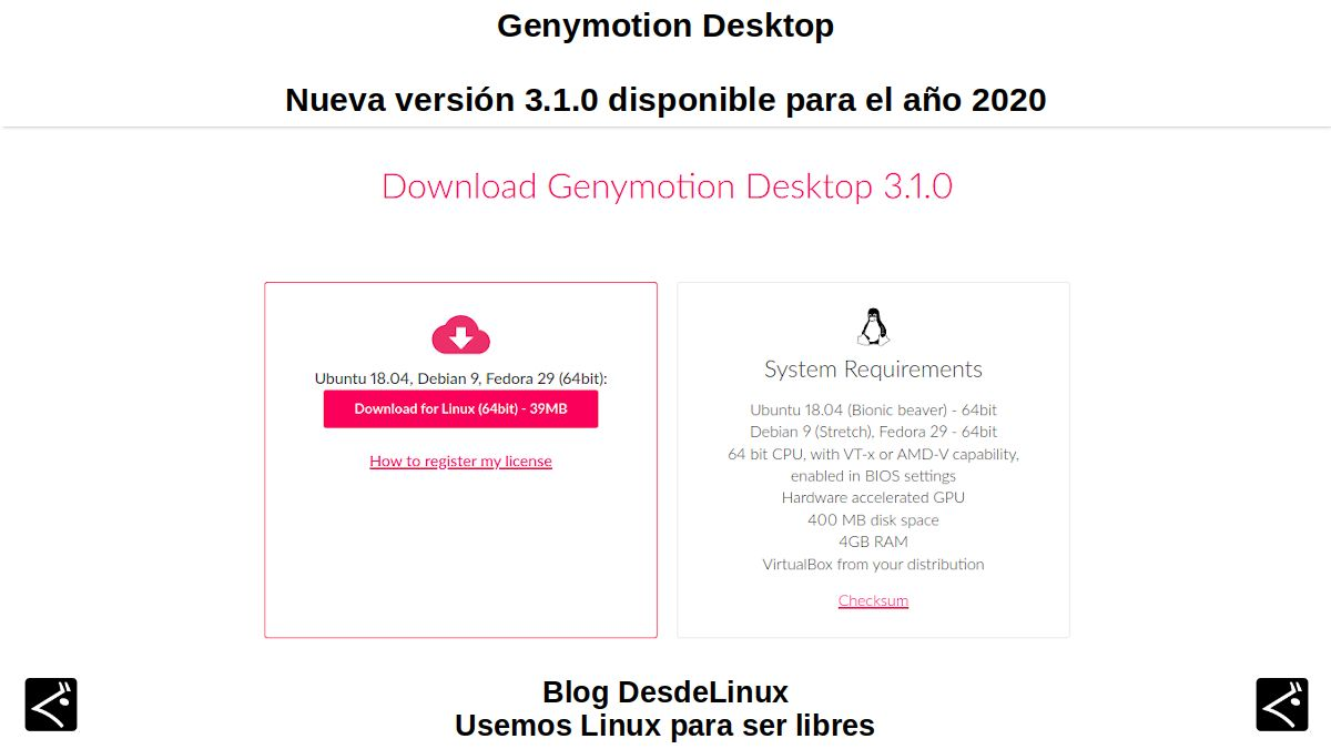 Genymotion Desktop: Nueva versión 3.1.0 disponible para el año 2020