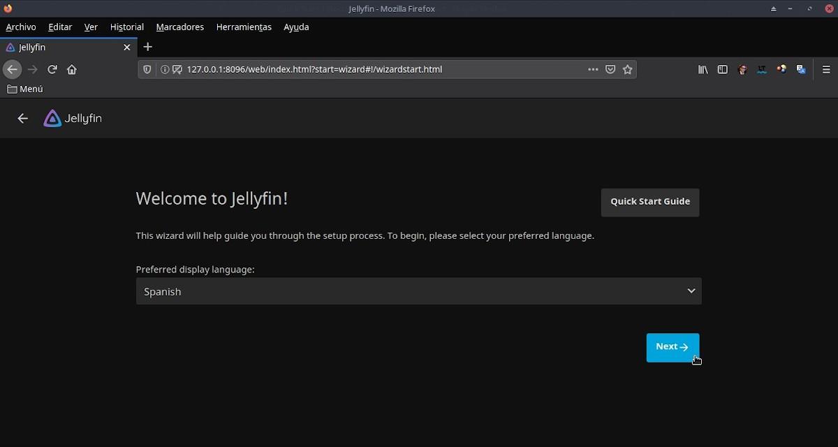 Jellyfin: Configuración - Paso 2b