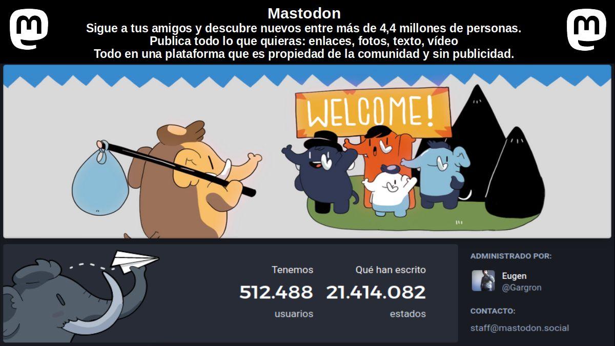 Mastodon: Contenido