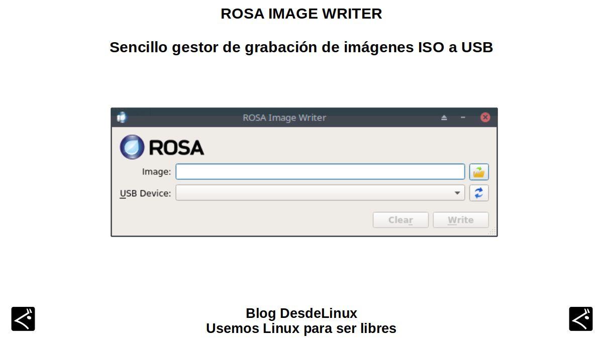 ROSA Image Writer: Sencillo gestor de grabación de imágenes ISO a USB