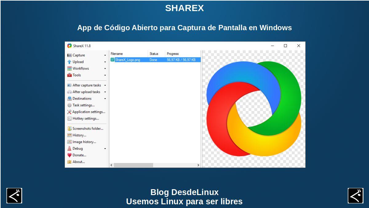ShareX: App de Código Abierto para Captura de Pantalla en Windows