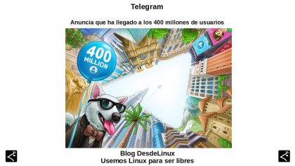 Telegram: Anuncia que ha llegado a los 400 millones de usuarios
