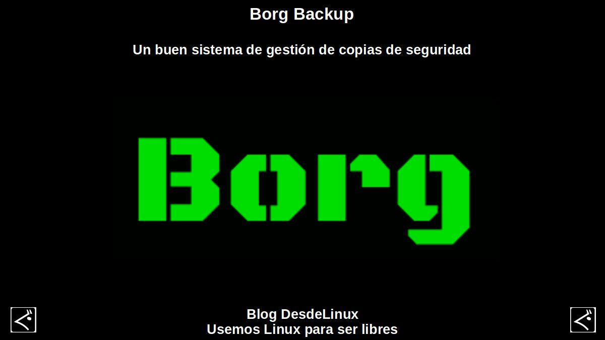 Borg Backup: Un buen sistema de gestión de copias de seguridad