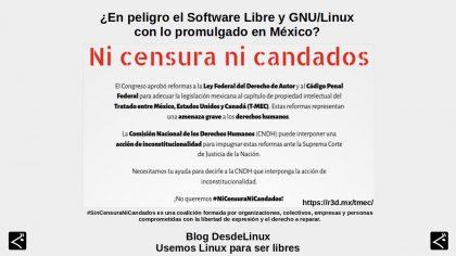 ¿En peligro el Software Libre y GNU/Linux con lo promulgado en México?