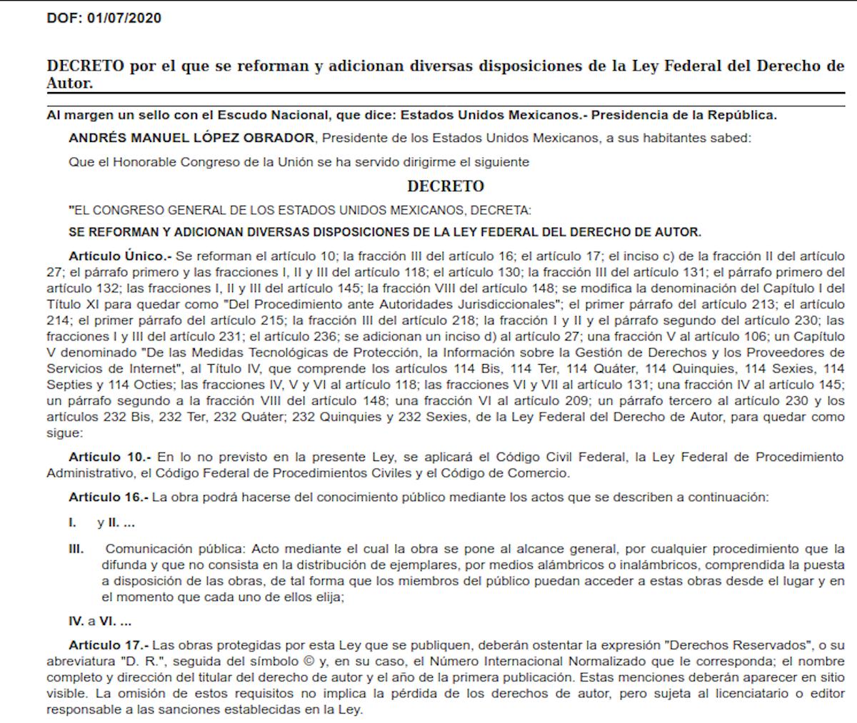 Reforma de LFDA