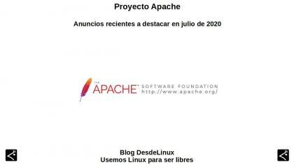 Proyecto Apache: Anuncios recientes a destacar en julio de 2020