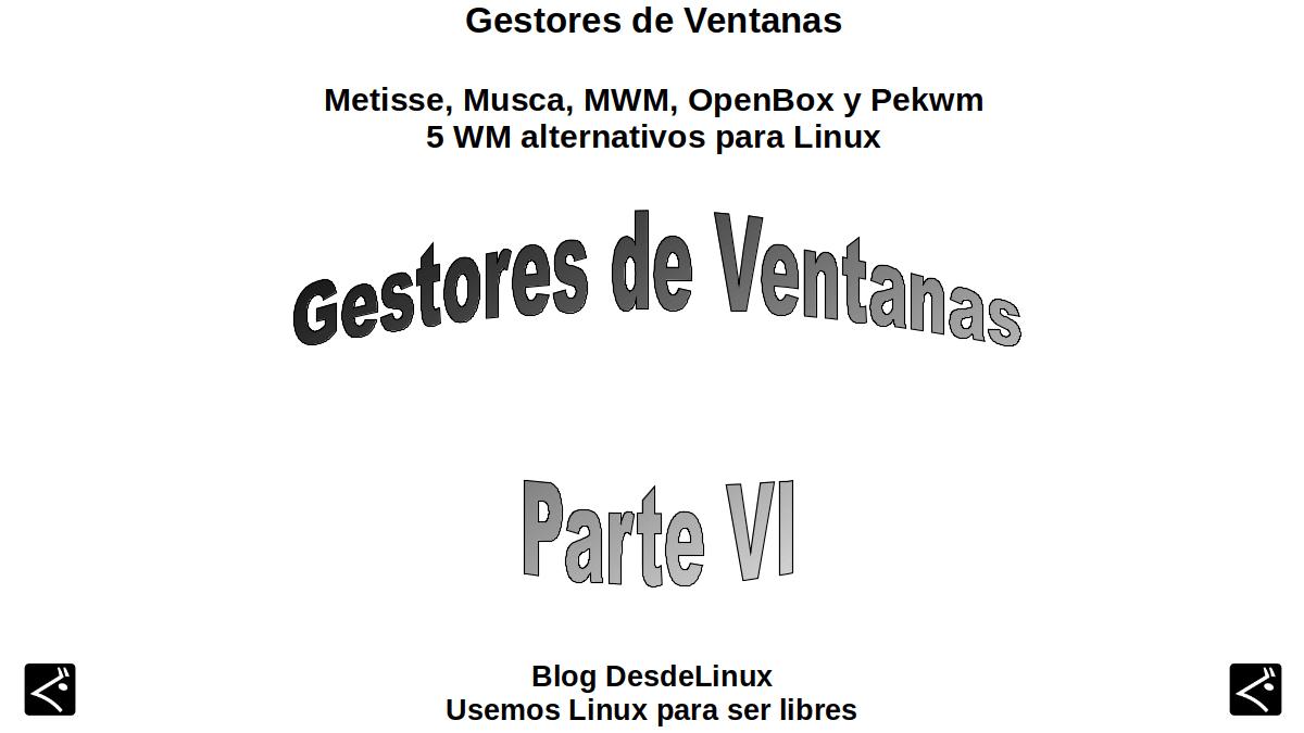 Metisse, Musca, MWM, OpenBox y Pekwm: 5 WM alternativos para Linux