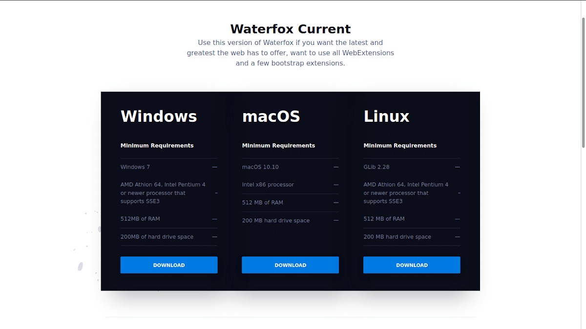 Waterfox Current