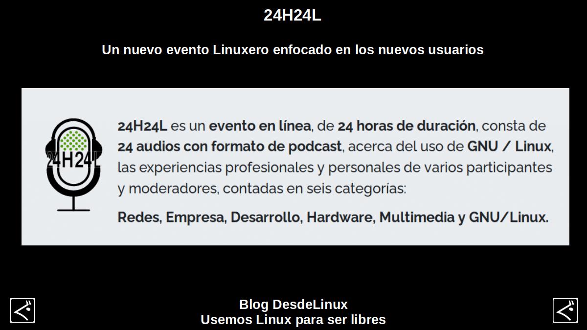 24H24L es un evento en línea, de 24 horas de duración