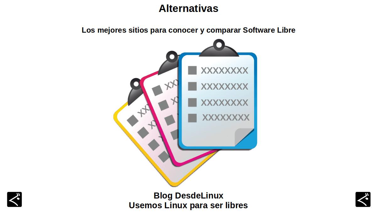 Alternativas para Software libre: Contenido