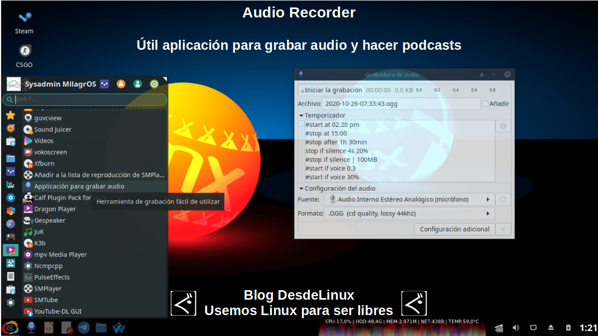 Audio Recorder: App multimedia de Código Abierto