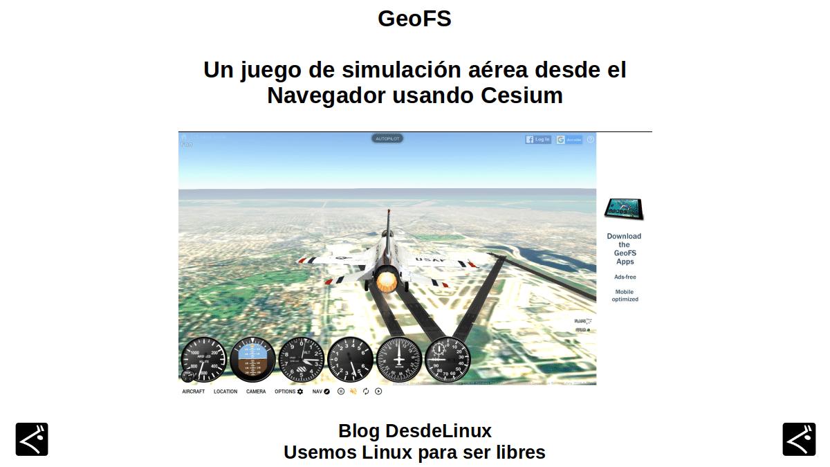 GeoFS: Un juego de simulación aérea desde el navegador usando Cesium