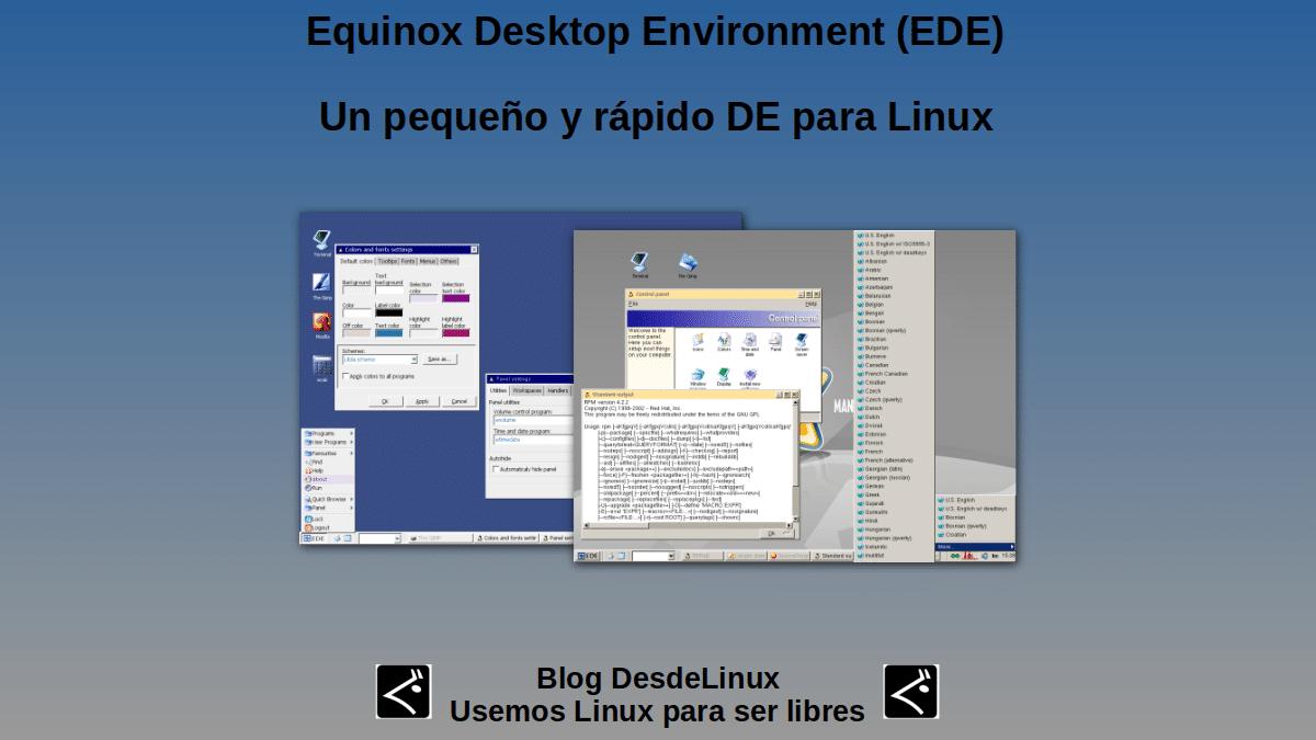 Equinox Desktop Environment (EDE): Un pequeño y rápido DE para Linux