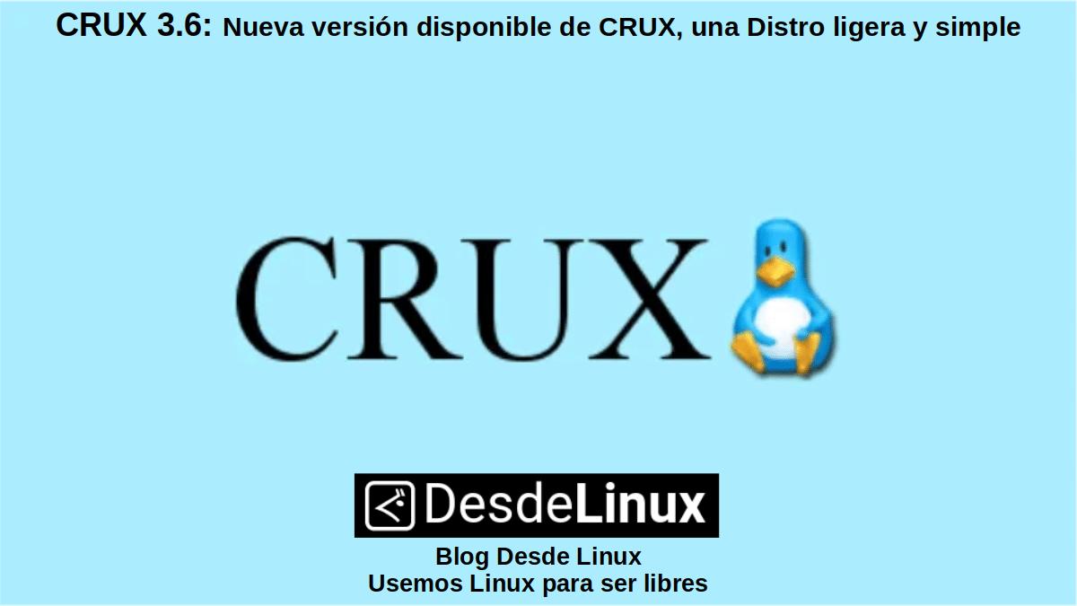 CRUX 3.6: Nueva versión disponible del 09/12/2020
