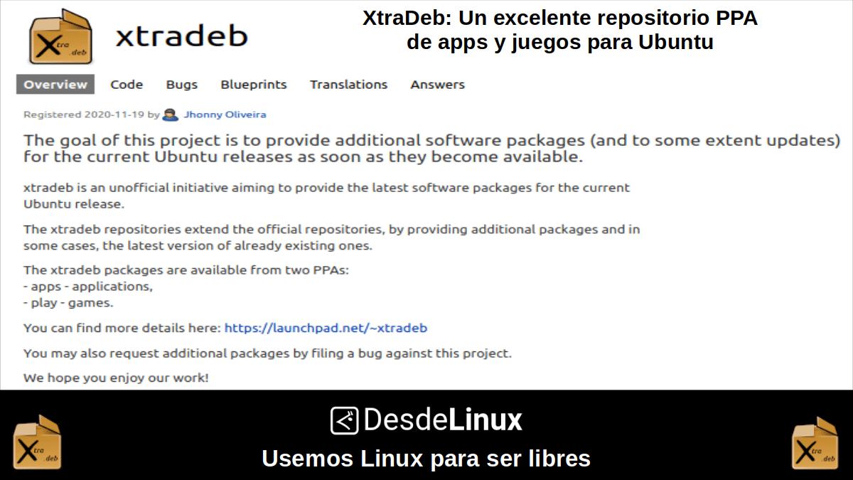 XtraDeb: Repositorio PPA