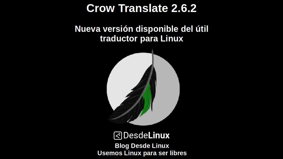 Crow Translate 2.6.2: Nueva versión disponible del útil traductor para Linux