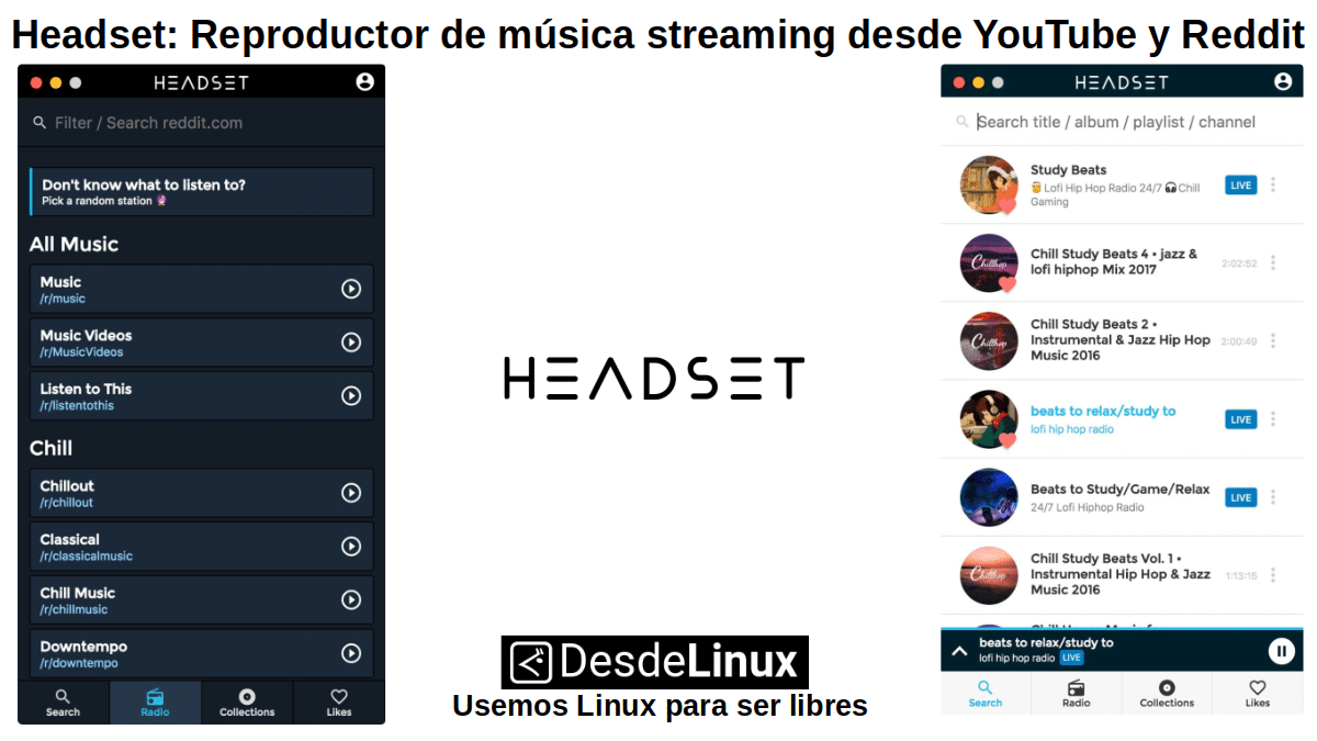 Headset: Reproductor de Escritorio para Linux