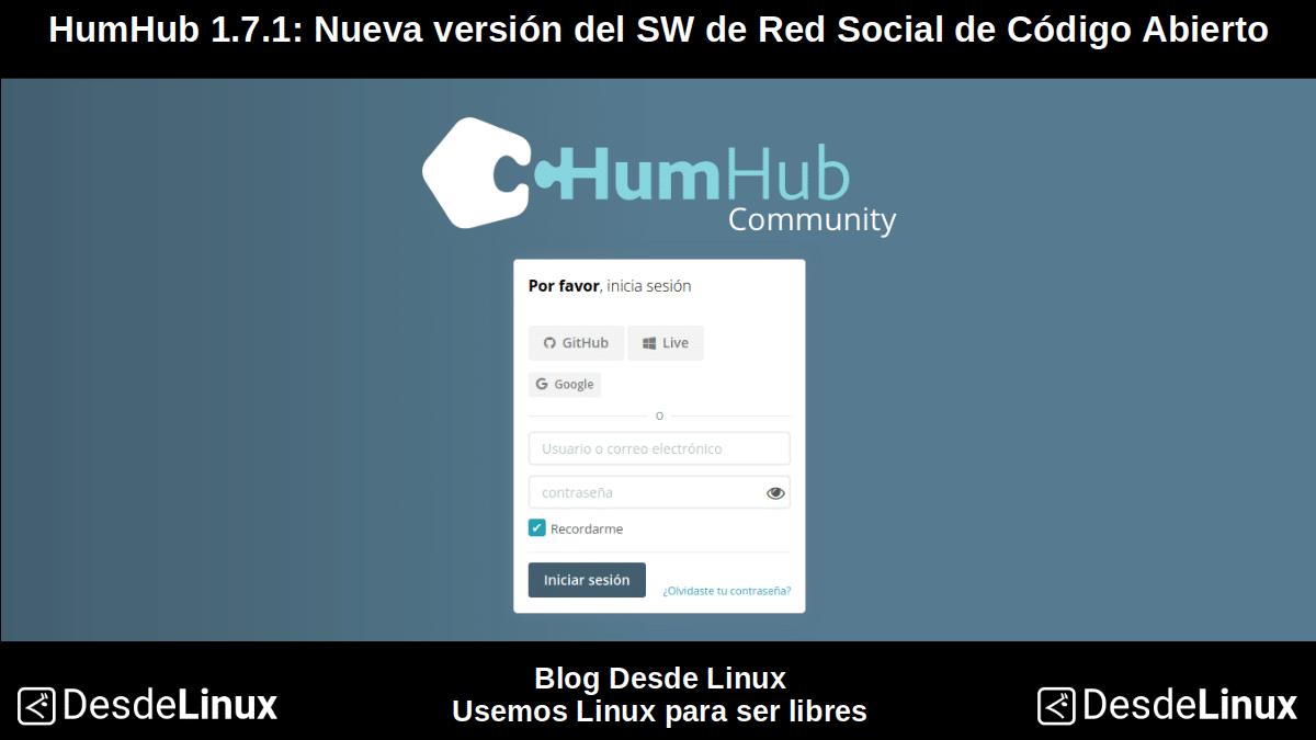 HumHub 1.7.1: Pantallazo 1