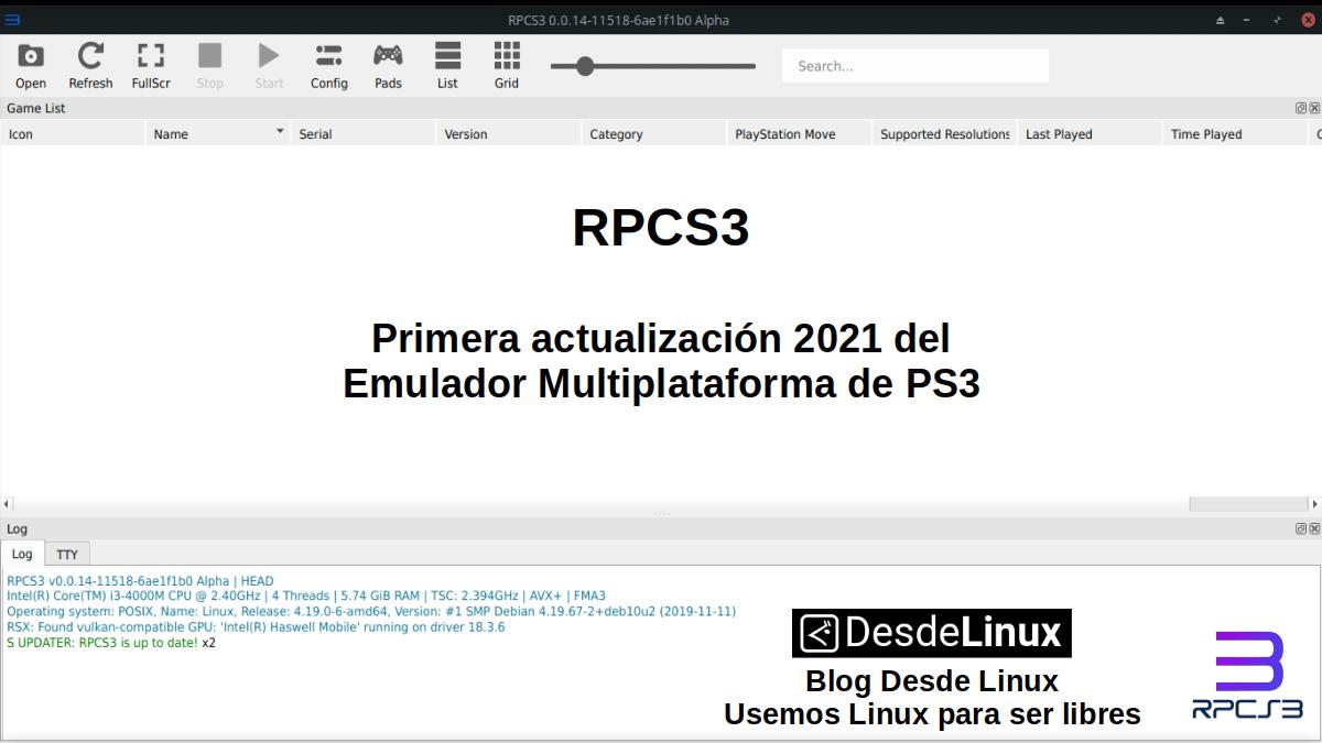 RPCS3: Nueva actualización disponible