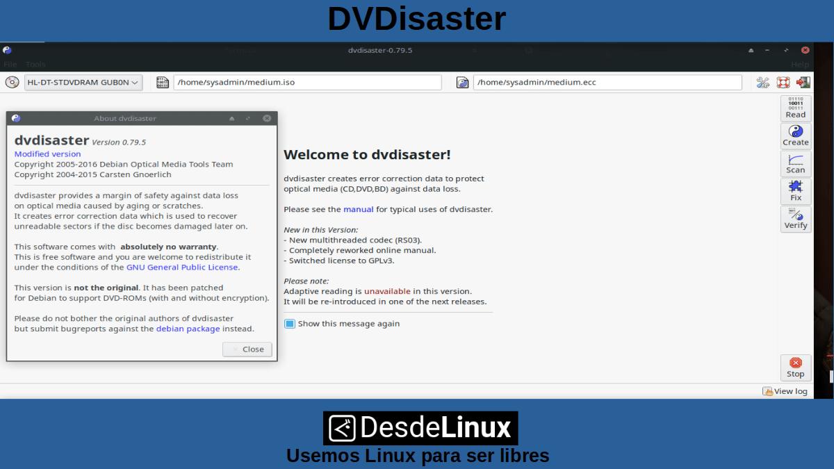 DVDStyler: DVDisaster