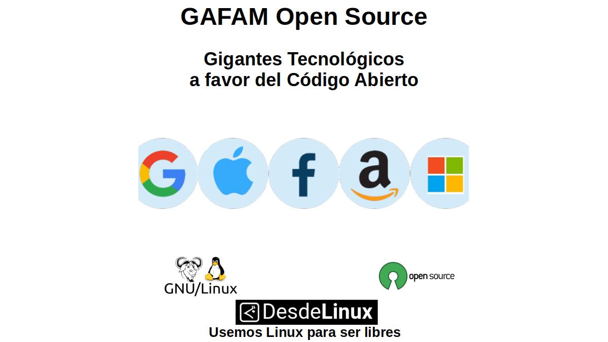 GAFAM Open Source: Gigantes Tecnológicos a favor del Código Abierto