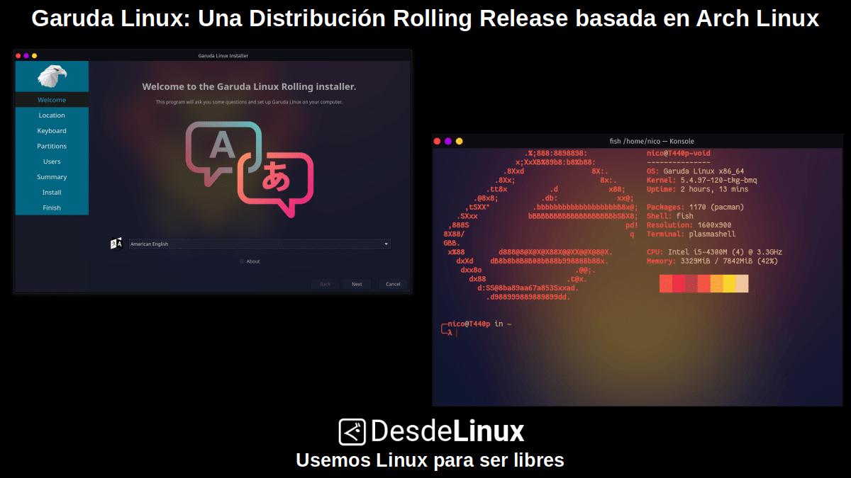 Garuda Linux: Pantallazo 1