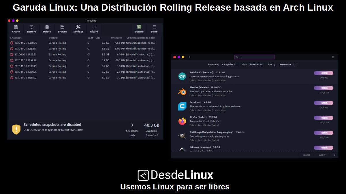 Garuda Linux: Pantallazo 2
