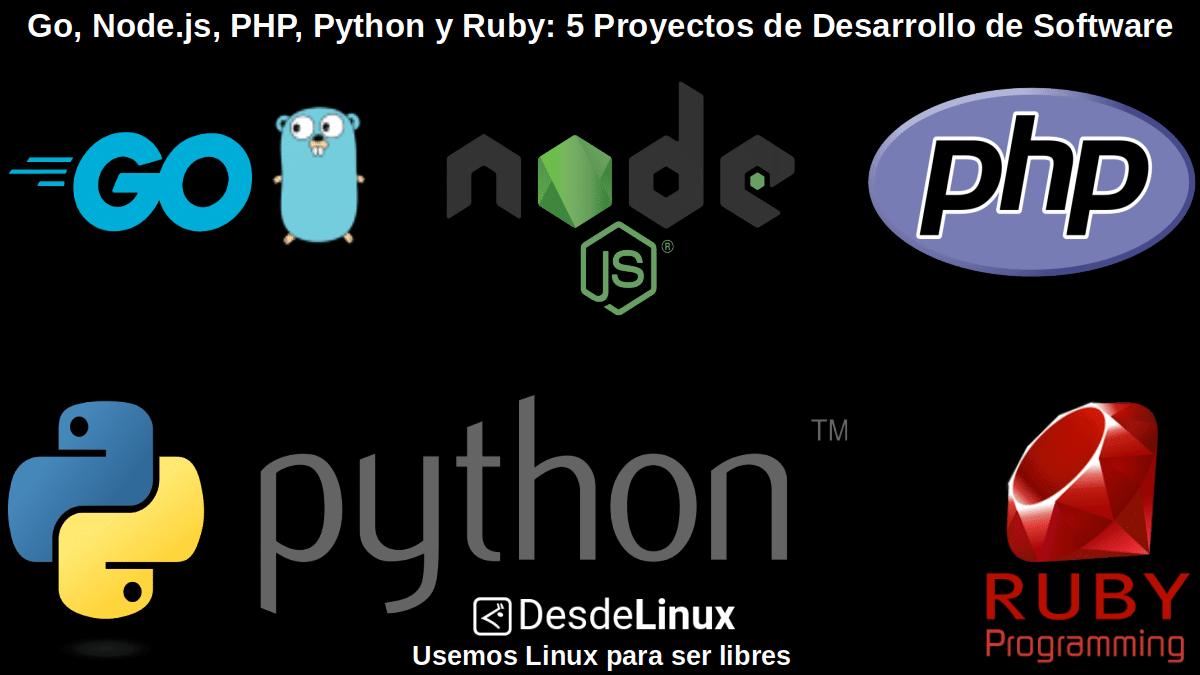 Go, Node.js, PHP, Python y Ruby: Contenido