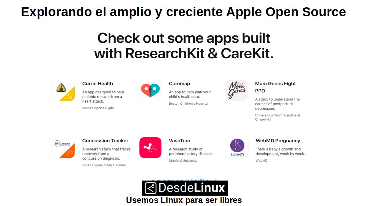 AOS-P4: Apps disponibles en ResearchKit