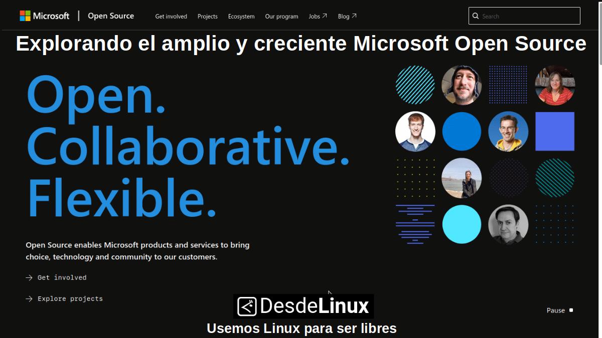 Explorando el amplio y creciente Microsoft Open Source