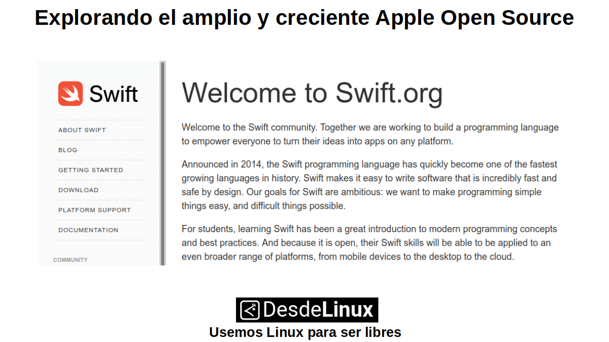 AOS-P5: Apple Open Source – Parte 5 = Swift