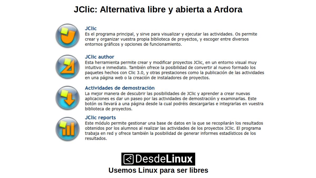 JClic: Alternativa libre y abierta a Ardora