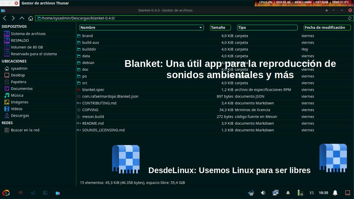 Blanket: Pantallazo 5