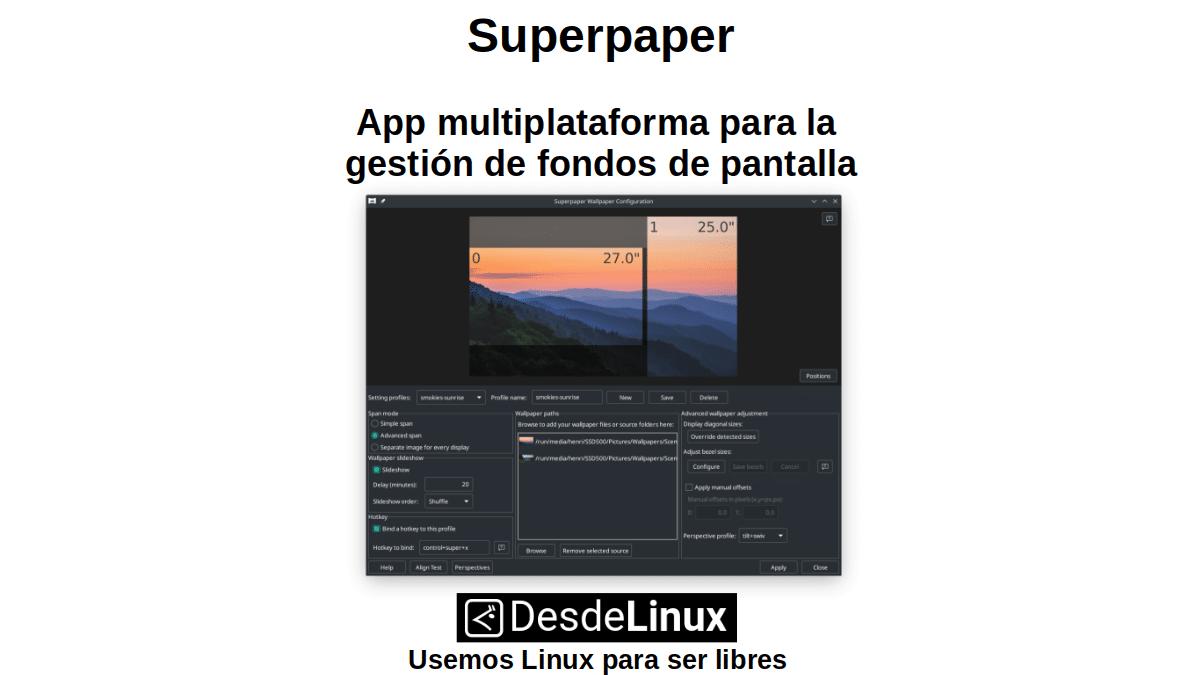 Superpaper: App multiplataforma para la gestión de fondos de pantalla