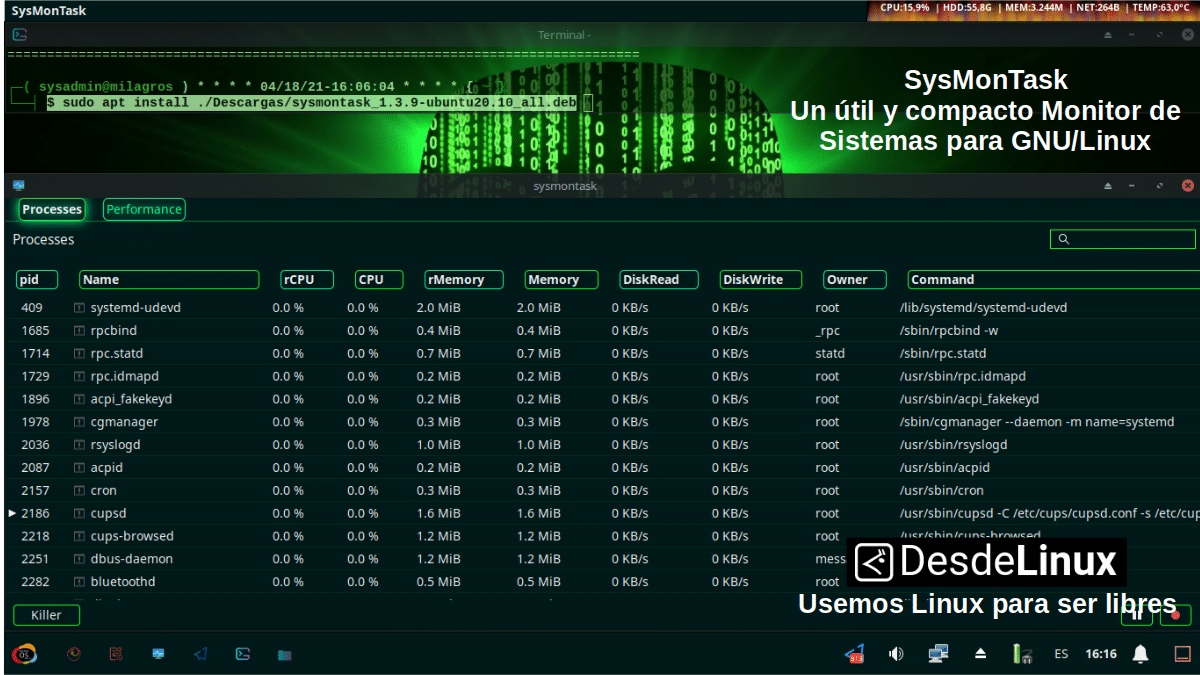 SysMonTask: Pantallazo 1