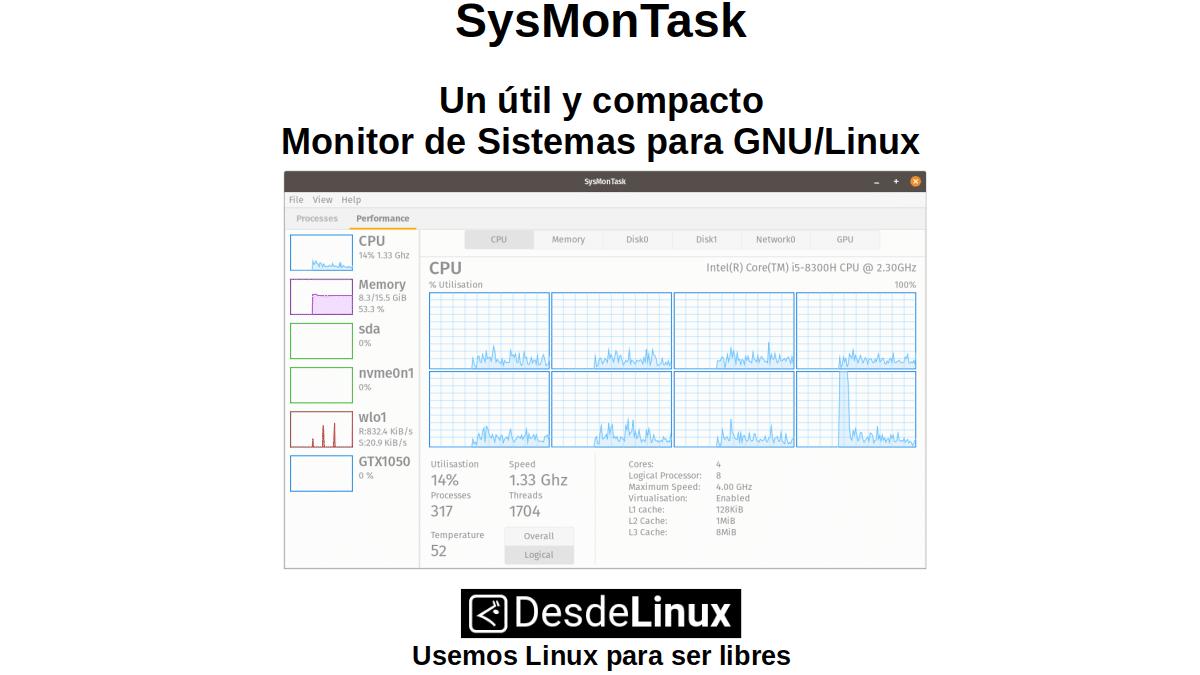SysMonTask: Un útil y compacto Monitor de Sistemas para GNU/Linux