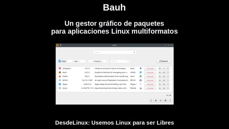Bauh: Un gestor gráfico de paquetes para aplicaciones Linux multiformatos