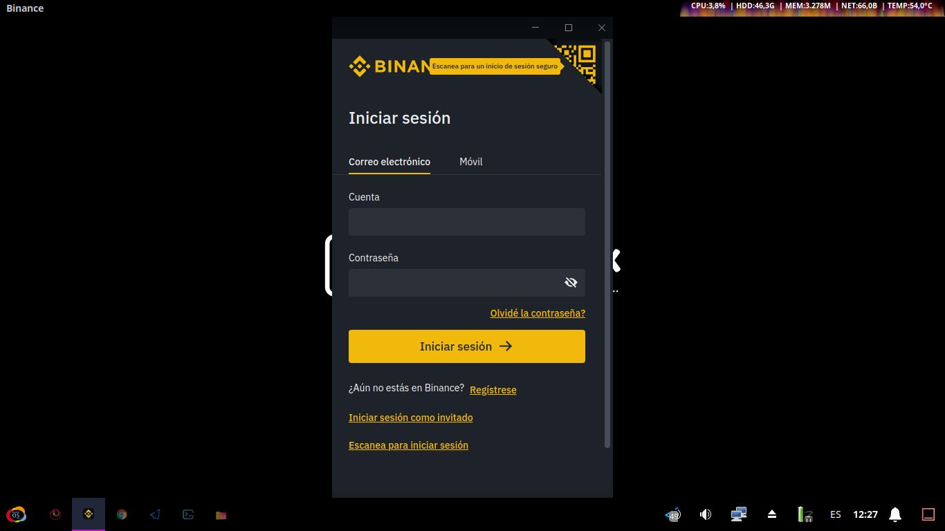 Binance App Desktop: Pantallazo 5