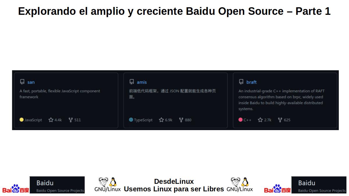 Aplicaciones del Baidu Open Source