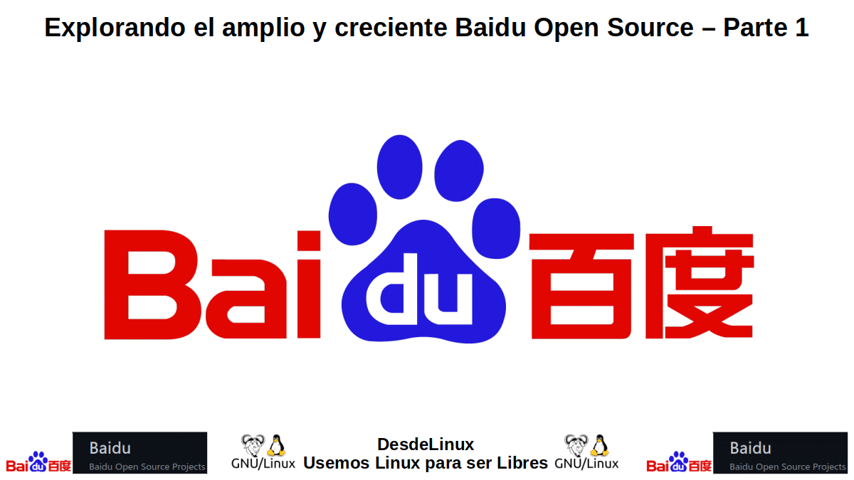 BOS-P1: Baidu Open Source – Parte 1