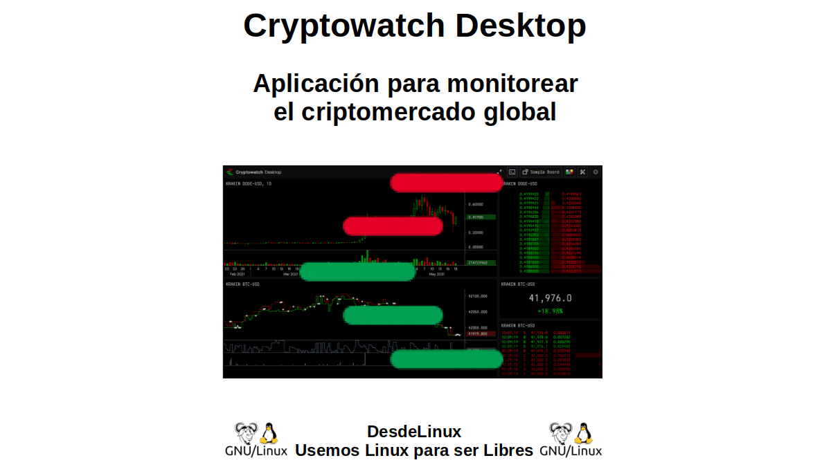 Cryptowatch Desktop: Aplicación para monitorear el criptomercado global