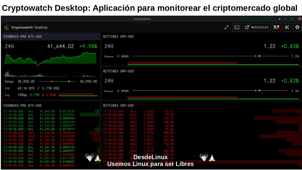 Cryptowatch Desktop: Pantallazo 2