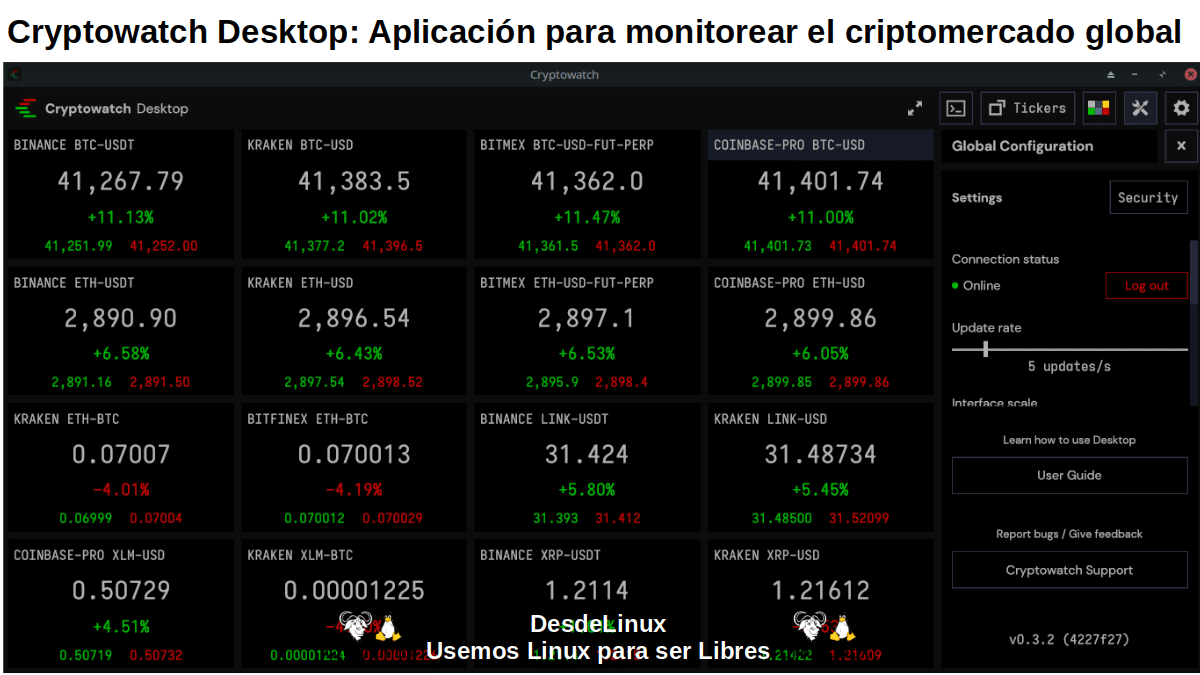 Cryptowatch Desktop: Pantallazo 6