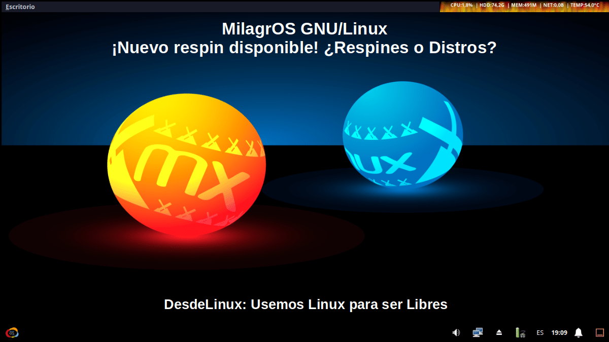MilagrOS GNU/Linux: Un respin personal (no oficial) de MX Linux