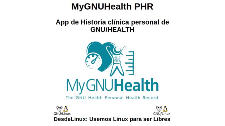 MyGNUHealth PHR: App de Historia clínica personal de GNU/HEALTH